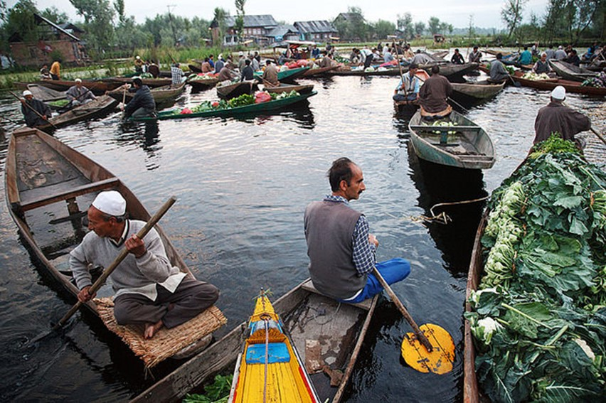 dal lake floating market - famous destinations in India and foreign look-alikes